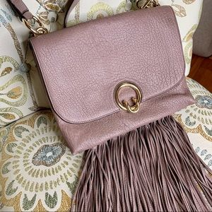 Rebecca Minkoff Isabel Large Shoulder Bag W/Fringe